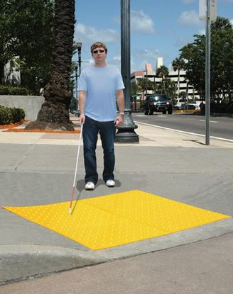 Picture of ADA Warning Mat 2'x4' Yellow Surface Mount