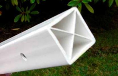 Picture of Plastic x square post