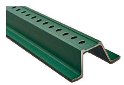 Picture of 10 Ft. U Channel Sign Posts – Green Powder-Coated Steel
