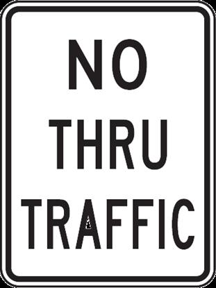 "Picture of 18""x24"" No Thru Traffic"