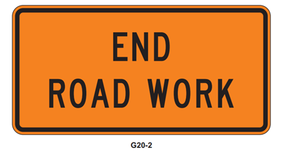 """Picture of 36"""" x 18"""" End Road Work"""