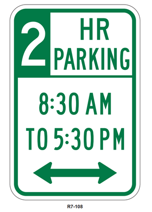 Picture of Hour parking sign