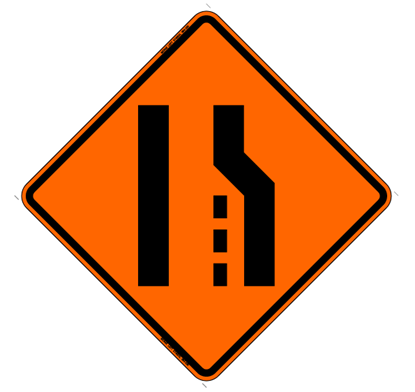 Picture of Roll Up Right Lane Ends Symbol