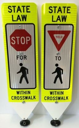 Picture of Impact Recovery Pedestrian Crossing Replacement Panels IRS