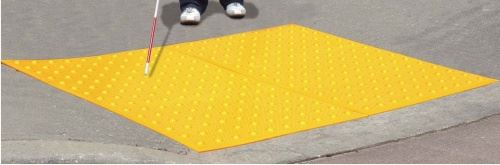 Picture of ADA Warning Mat 2'x3' Yellow Surface Mount