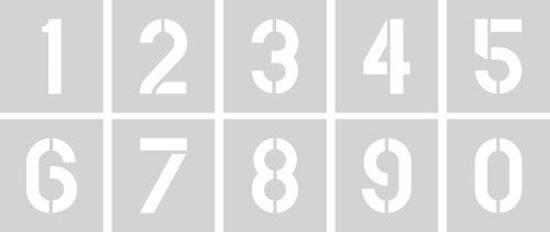 """Picture of Stencil 12"""" Numbers Set"""