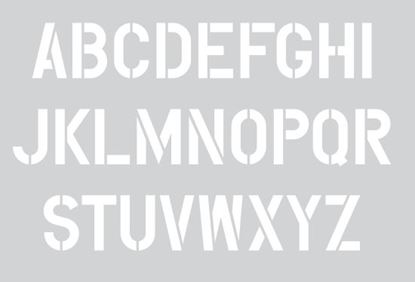 """Picture of Stencil 12"""" Letters Set"""
