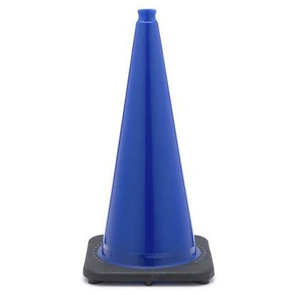 """Picture of 28"""" Cone Blue Non-Reflective"""