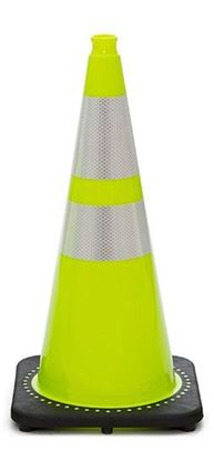 """Picture of 28"""" Cone Lime Reflective"""