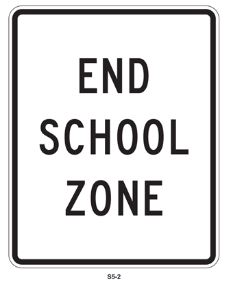 """Picture of 18""""x24"""" End School Zone"""