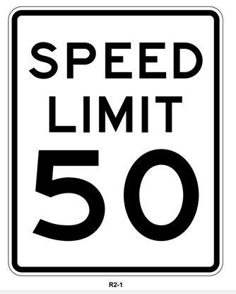 """Picture of 24""""x30"""" Speed Limit Sign"""