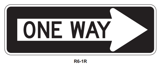 """Picture of 36""""x12"""" One Way Right"""