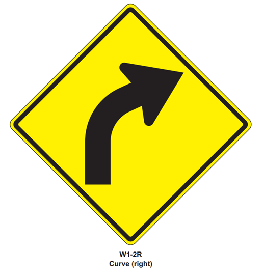 """Picture of 24""""x24"""" Curved Arrow Right"""