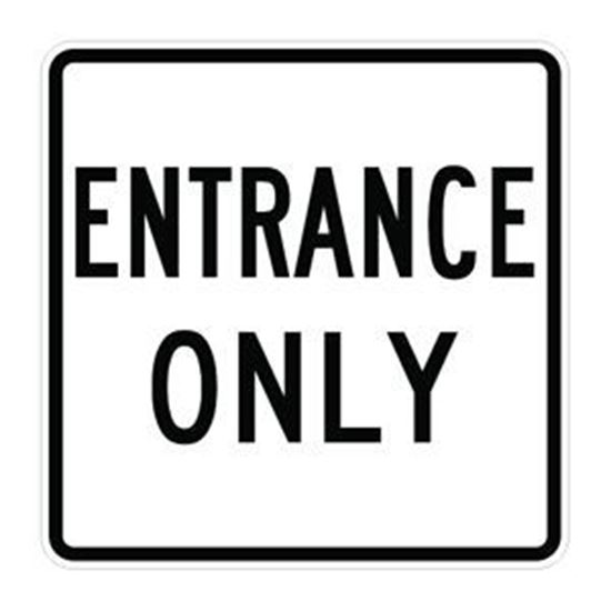 """Picture of 24""""x24"""" Entrance Only Sign"""