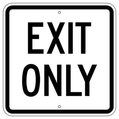 """Picture of 24""""x24"""" Exit Only Sign"""