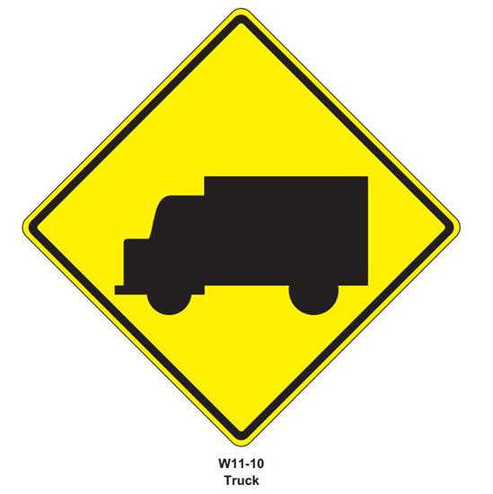 """Picture of 24""""x24"""" Trucks Symbol"""