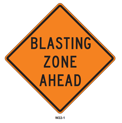 """Picture of 36""""x36"""" Blasting Zone Ahead"""