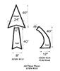 Picture of 3 piece arrow  stencil set