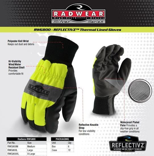 Picture of High visibility gloves RWG 800
