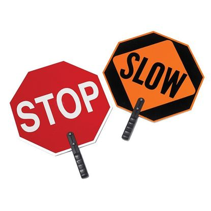 """Picture of 18"""" Stop/Slow Paddles (New Lower Price!)"""